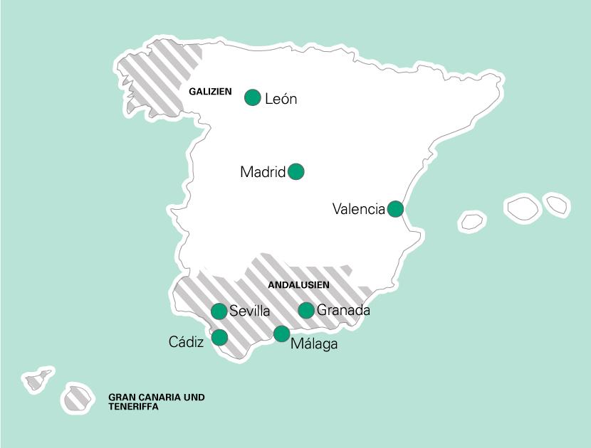Malaga Karte Spanien.Schuljahr In Spanien Spanien Schuljahr