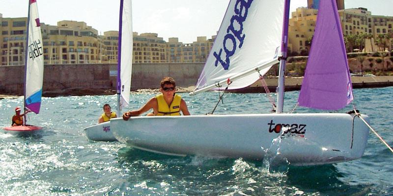 Malta Sprachreise Schüler mit Segeln